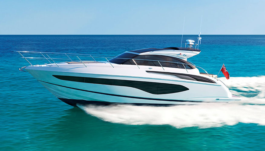 Яркая и стремительная яхта Princess V50